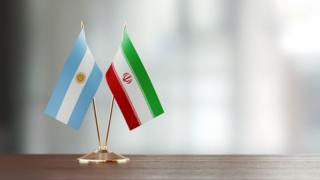 Banderas de Argentina e Irán