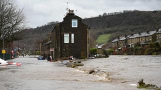 environment Flooding in Mytholmroyd