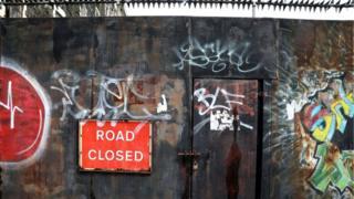 Flax Street barrier, North Belfast