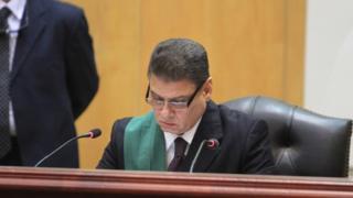Le juge Mohamed Sirin Fehmi lors du procès de l'ex-président Mohamed Morsi pour espionnage, le 4 janvier 2016.