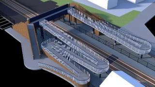 An artist's impression of the Wareham Station footbridge plan