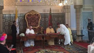 Papa ve Fas kralı