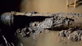 Damaged pipe