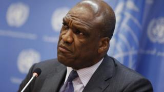 File photo of Ambassador Ashe of Antigua and Barbuda and former President of the UN General Assembly