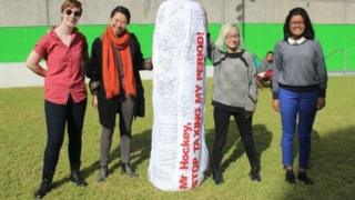 جانب من حملة للنساء في أستراليا لإلغاء الضريبة في عام 2015