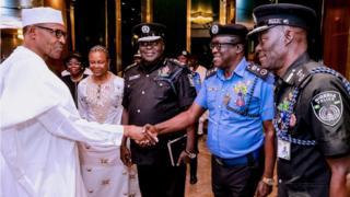 Presido Buhari for security meeting inside Aso Rock on Monday