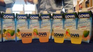 Trump Goya Foods coconut water (file photo)