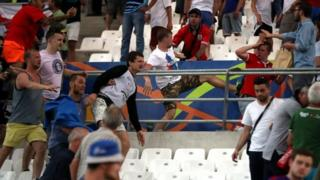 Violence at Russia v England match at Euro 2016