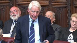 Lord Butler speaking in Parliament