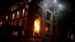Пожар в парламенте Парагвая
