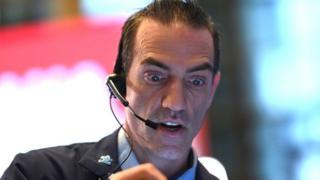 Operador de bolsa en Wall Street