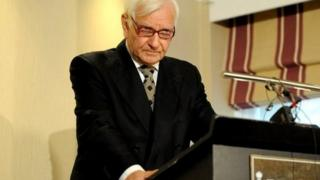 Harvey Proctor speaks at a news conference