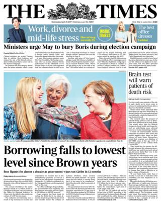 Times front page - 26/04/17