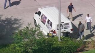 The suspect's van