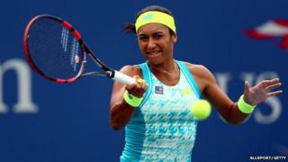Heather Watson is out of the US Open