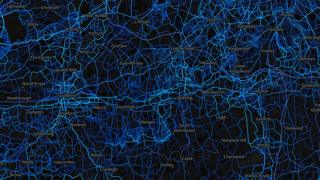 Surrey - running routes (by Strava users 2015)