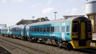 Arriva Trains Wales train in Cardiff