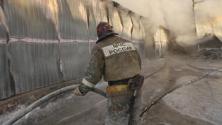 пожежа, Росія, Новосибірськ