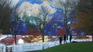 Installation at the COP23 climate conference in Bonn, Germany