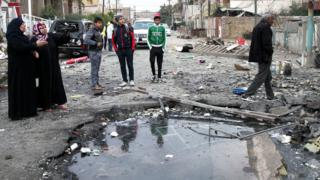 Site of attack claimed by so-called Islamic State in Iraq