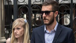 Charlie Gard's parents outside the high Court