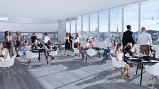 Concept of Eastgate Shopping Centre rooftop restaurant