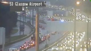 Traffic cam shows delays