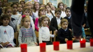 Children at a Berlin Jewish school in 8 Nov 2013