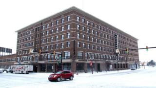 The Bancroft Building - a former hotel, now home to apartments and a cocktail bar - is an example of Saginaw's regeneration