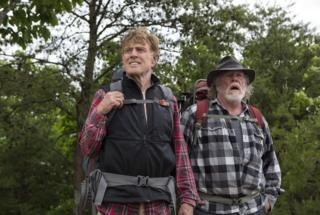 Robert Redford and Nick Nolte in A Walk In The Woods, 2015