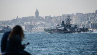 کشتی نظامی روسیه، میراژ، به مقصد سوریه از استانبول میگذرد
