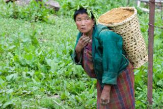 Bhutan villager