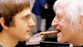 Louis Theroux facing Jimmy Savile