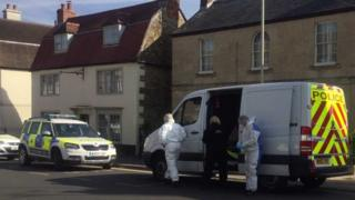 Police forensic investigators