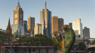 A view of the Melbourne skyline
