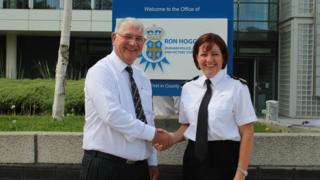 PCC Ron Hogg and Deputy Chief Constable Jo Farrell