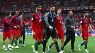 Le Portugal est 3e de la coupe des confédérations, après avoir défait le Mexique sur le score de 2 à 1 à l'issue des prolongations.
