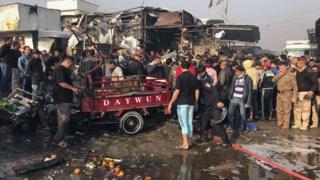تفجير في سوق في العراق