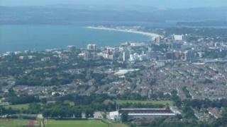 Aerial view of Bournemouth and Poole