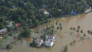 سیلاب در کرالا در جنوب هند