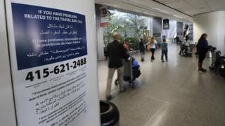 Объявление в аэропорту Сан-Франциско