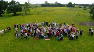 Riders and volunteers at Pettistree Hall Farm in Sutton