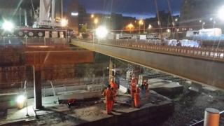 The Dundee railway station support beams each weigh 18 tonnes
