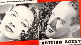 """1934年《一个英国特务的回忆》被好莱坞""""华纳兄弟""""拍成电影《英国间谍》"""