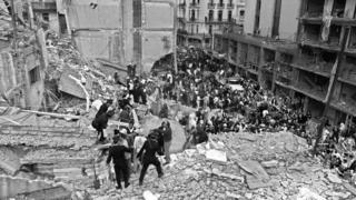 Amia bomb attack aftermath, July 1994