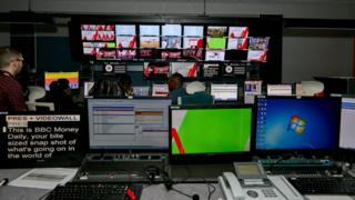 Studio gallery at BBC Nairobi bureau