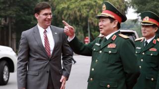 Bộ trưởng quốc phòng Mỹ và Việt Nam tại Hà Nội ngày 20/11/2019