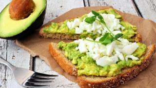 Mashed - or smashed - avocado on toast
