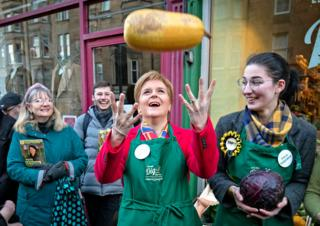 in_pictures SNP leader and Scottish First Minister Nicola Sturgeon meets constituents in Edinburgh