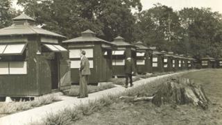 TB huts c 1930